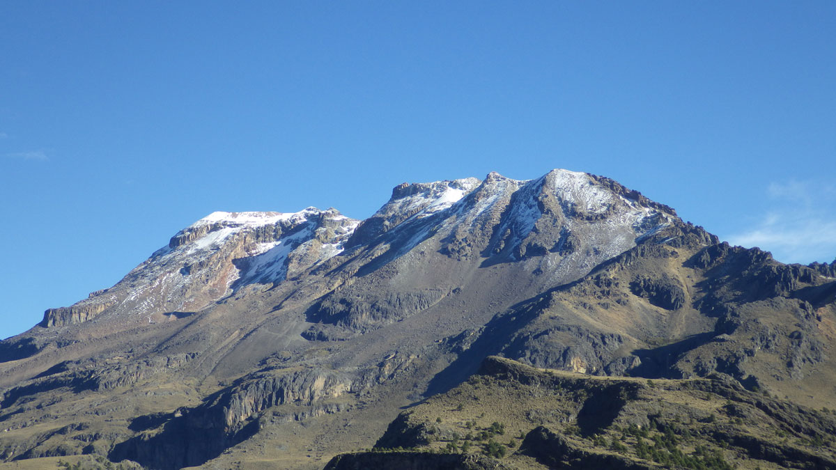 Mt. Iztaccihuatl Volcano in Mexico Stock Photo, Royalty Free Image ...