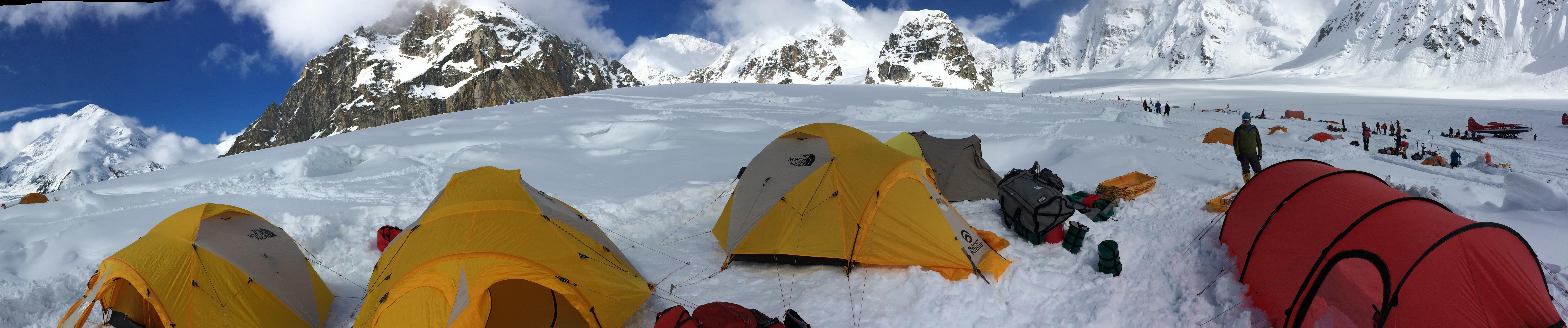 Tents near Denali Base Camp.