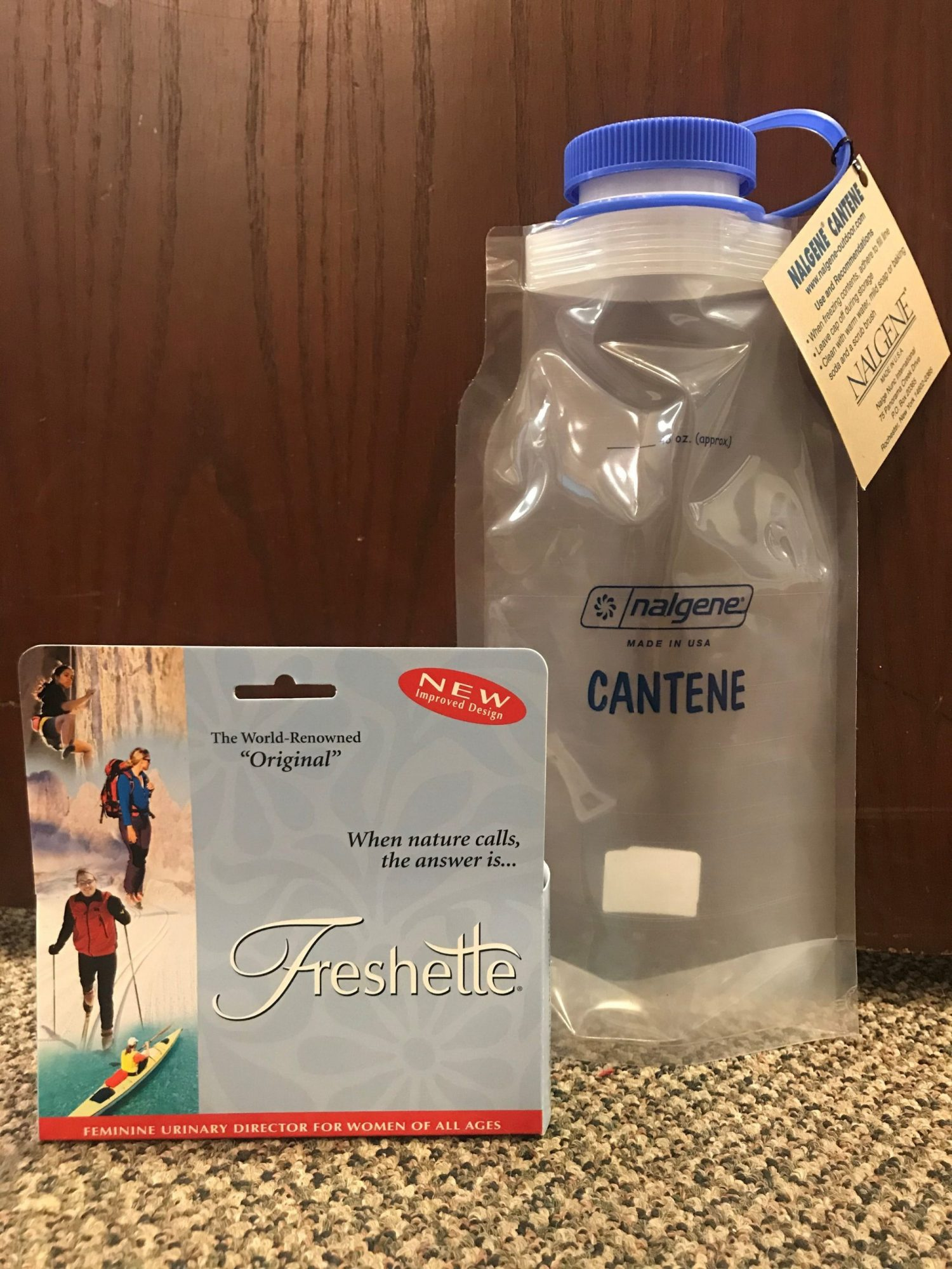The Pee Bottle And Pee Funnel
