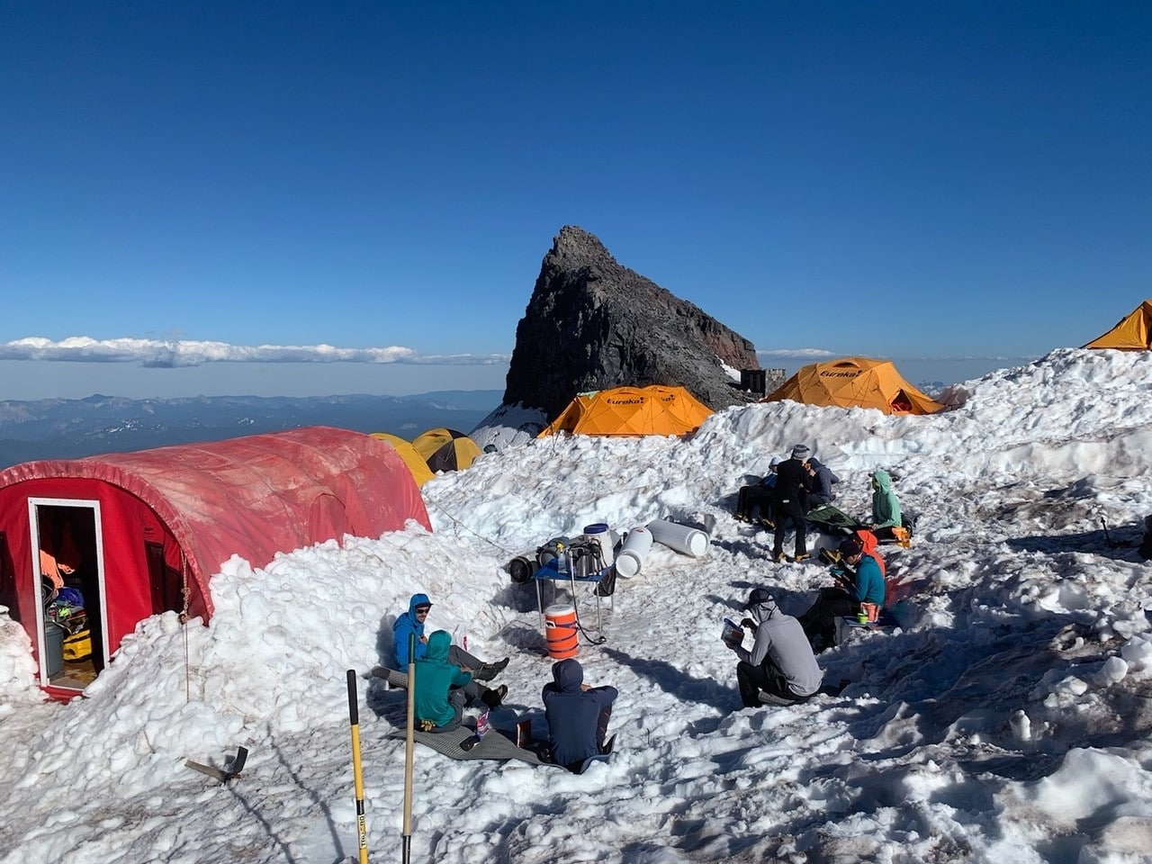 7/20 3-day muir climb: socially distant dinner with a view